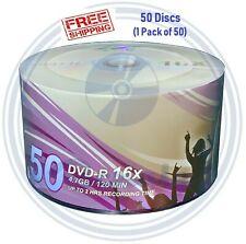 50 LSK Media DVD DVD-R White Top Logo Grade A 16X 4.7GB/120Min (Compare to HP )