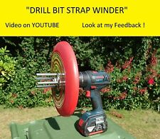 Drill Bit Strap Winder X3. - The easiest and fastest way to wind up truck straps