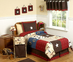 Jojo Designs Wild Western Horse Cow Boy Kids Teen Full  Sized Comforter