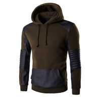 Fashion Mens Hooded Hoody Long Joint Sleeve Pockets Warm Sweatshirt Tops Sweats