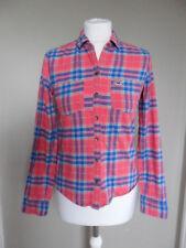 Hollister women's shirt size 8 (XS) pink check long sleeve