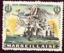WWWI / ERINNOPHILIE TIMBRE FRANCE MILITAIRE / AUX ARMES CITOYENS MARSEILLAISE