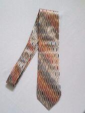 SARAR Men's Silk Tie, Necktie - Styled in Italy Metallic Multi Colour Handmade