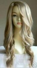 LMJF45 fashion new style long dark blonde wavy wigs for women curly hair wig