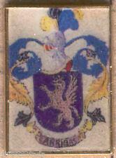 Heraldry PIN metallic del last name : ARRIBAS
