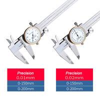 Métrique Acier Cadran Micromètre échelle Coulissante Jauge Vernier 0-150mm