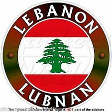 "LEBANON Middle East, Lebanese Cedar, LUBNAN Libnan Sticker-Decal 4""(100mm) x1"