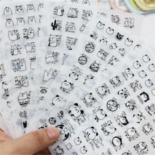 6Pcs Cute Panda Pvc Sticker Note Scrapbooking Diary Decoration Label Toys YR