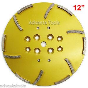 "12"" Concrete Grinding Head for Floor Grinders - 12 Segments 25/30 Grit"