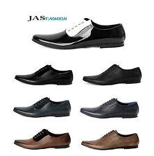 Mens Vestido Formal Zapatos Con Cordones Inteligente Trabajo De Oficina De Boda Moda Estilo Size Uk