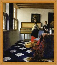 Lady at the Virginal with a Gentleman Jan Vermeer Musik Lesson Krug B A1 02463