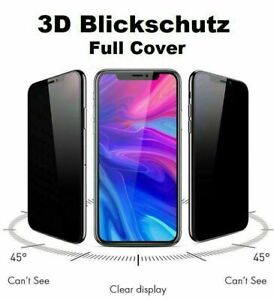 3D Sichtschutz Panzerfolie Schutzglas iPhone 12 | Mini | Pro | Max Blickschutz