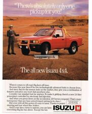 1988 Isuzu 4x4 Red Pickup Truck Vtg Print Ad