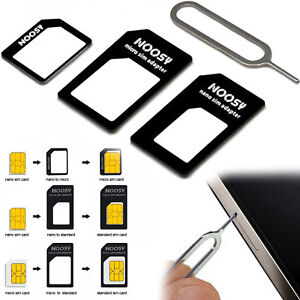 3 IN 1 MICRO NANO AND STANDARD SIM CARD ADAPTER FOR MOTO G G2 G3 G4 G5 G6 G5S +
