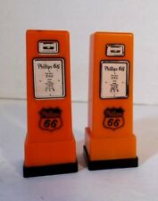 Vtg Phillips 66 Gas Pump Salt and Pepper Shakers Glen Scherf RT NO 1 Emerald Wis
