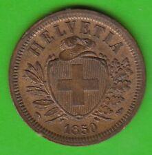 Schweiz 2 Rappen 1850 besser als vz sehr hübsch nswleipzig