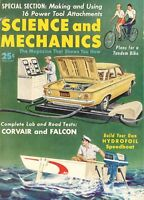 Vintage February 1960 Science & Mechanics Magazine ~ Road Tests Corvair & Falcon