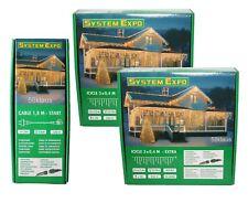 Set System Expo Eisregen Lichterketten 6m (2x 3m) + Startkabel / 484-30 + 484-28