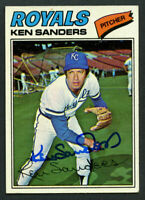 Ken Sanders #171 signed autograph auto 1977 Topps Baseball Trading Card