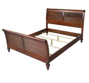 Ethan Allen British Classics King Size Sleigh Bed Frame Cinnabar #29-5630 EUC!