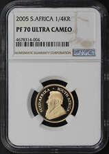 2005 South Africa Gold Krugerrand 1/4 oz NGC PF-70 Ultra Cameo