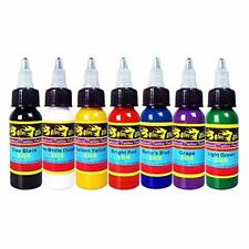 Solong Tattoo 7 Units Ink Pigment Basic Tattoo Colors 1 OZ 30ml / Bottle Ink Kit