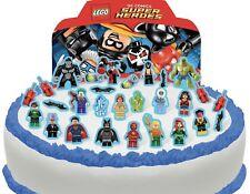 Cakeshop PRE-CUT Lego DC Superhero's Edible Cake Scene - 29 pieces