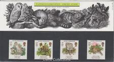 GB 1986 Europa naturaleza presentación Pack 171 SG 1320 1323 conjunto de sello de menta