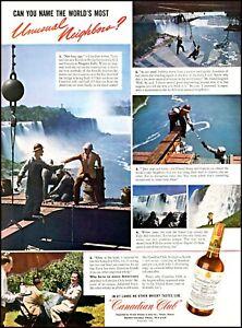 1941 Niagara Falls Canadian Club Whisky workmen vintage photo Print Ad adL47