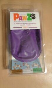 PawZ Dog  8 Disposable Reusable Boots large purple