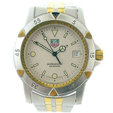 TAG HEUER 1500 SERIES 955.706G-2 PROF SANDY BEIGE DIAL 2-TONE G.P.+S.S. WATCH