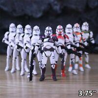 "5pcs Star Wars 3.75"" Republic Commando Trooper Action Figures"