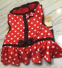 Disney Parks Minnie Mouse Dog Costume Medium Comfort Harness Polka Dots 20-50 lb