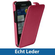 Pink Echtes Leder Tasche für Samsung i9100 Galaxy S2 SII Android Hülle Case Etui