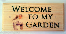 Welcome To My Garden - Plaque / Sign / Gift - Robin Home Grandad Allotment 359