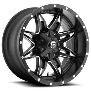 "Fuel D567 Lethal 15x10 5x5.5"" -43mm Black/Milled Wheel Rim 15"" Inch"