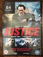Justice DVD 2012 Revenge Crime Thriller Movie w/ Nicolas Cage Rental Version