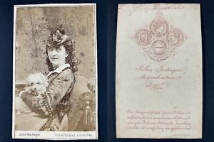 Gertinger, Wien, Fraulein Baudius Vintage cdv albumen print. Tirage al