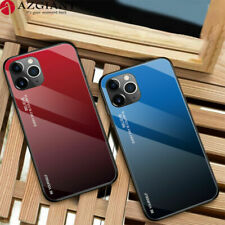Tempered Glass Phone Case Luxury Hard Shockproof Bumper For iPhone X XS