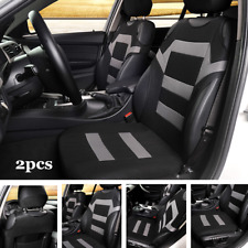 2pcs Car Front Seat Cover Polyester Fabric Universal Seat Cushion Set Protector