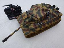 Taigen 1/16 2.4 GHz RC German Tiger 1 Late Camouflage BB Tank plastic TRACKS