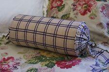 New Custom Ralph Lauren Surrey Garden Tattersall Neckroll Pillow Neck Roll