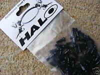 HALO Alloy Spoke Nipples (Bag of 50) Black (NEW!) Mountain Road Bike Cycle Wheel