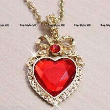 Corazón Con Cinta Collar Rojo Clásico Cristal Colgante Regalo Perfecto presentar su