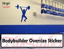 Overhead Press Bodybuilder Oversize Wall Custom Vinyl Sticker