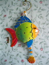METAL TROPICAL FISH WALL HANGING Ornament WALL ART ANIMAL Decor SEA DECORATION