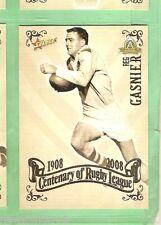2008  ST GEORGE DRAGONS  RUGBY LEAGUE CENTENARY CARD #63  REG GASNIER