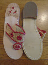 BNWOT ladies Jack Rogers summer sandals. Red details. Size 7, narrow fit