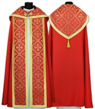 Red Gothic Cope with stole K50-Cp Capa pluvial Roja Piviale Rosso Cappa Pluviale