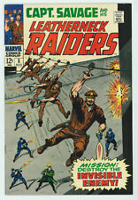 CAPTAIN SAVAGE & HIS LEATHERNECK RAIDERS #5 9.2 HIGH GRADE OW/W PGS 1968